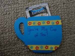 tea cup greeting card craft