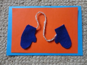 mittens card craft