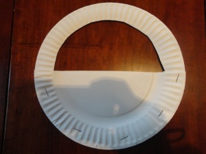 paper plate basket craft