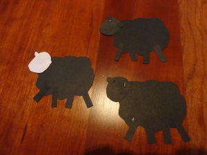 baa baa black sheep craft step 1