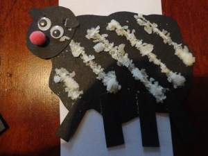 making baa baa black sheep craft