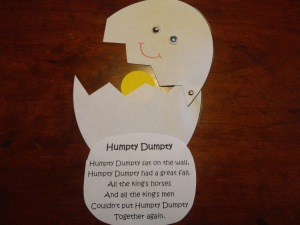 humpty dumpty nursery rhyme craft