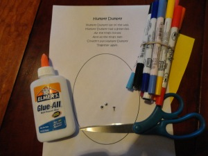 humpty dumpty craft materials