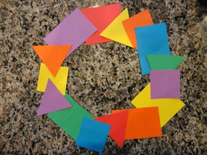 geometric wreath craft