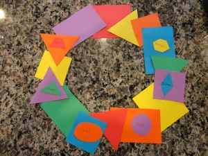 paper shape wreath