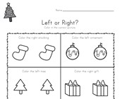 Christmas Left and Right Worksheet