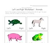 facing left right worksheet