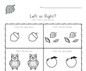 Fall Left and Right Worksheet