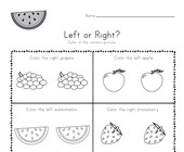 Fruit Left and Right Worksheet