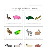 left right worksheet