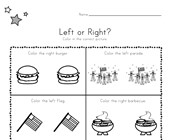 Patriotic Left and Right Worksheet
