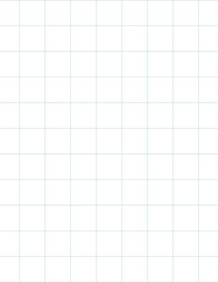 Graph Paper With Ledger Page Size, Light Blue Line Color, Line Every Inch