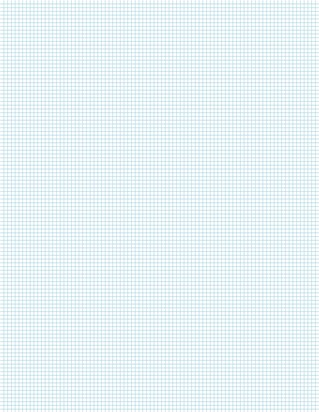 Graph Paper With Legal Page Size, Light Blue Line Color, 10 Lines Per Inch