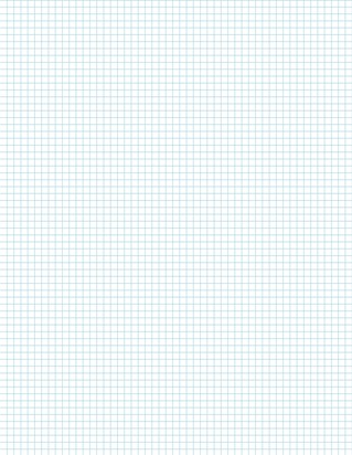 Graph Paper With Legal Page Size, Light Blue Line Color, 6 Lines Per Inch