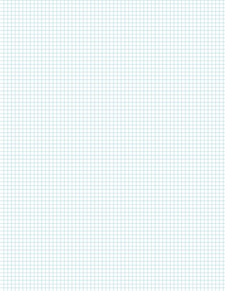 Graph Paper With Legal Page Size, Light Blue Line Color, 7 Lines Per Inch