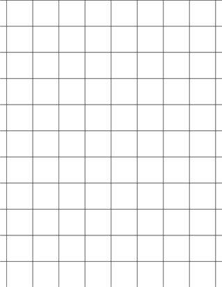 Graph Paper With Letter Page Size, Black Line Color, Line Every Inch