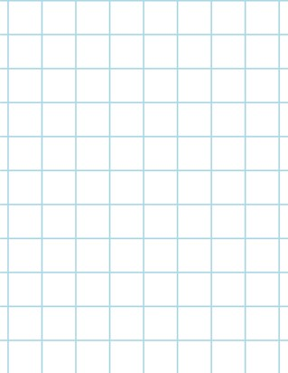 Graph Paper With Letter Page Size, Light Blue Line Color, Heavy Index Line, Line Every Inch