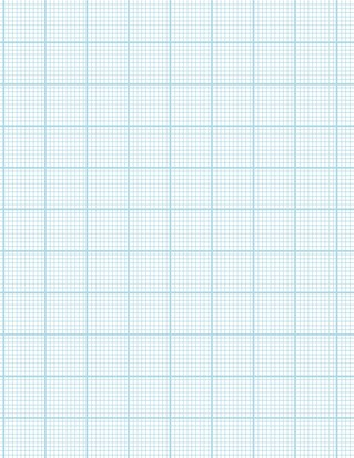 Graph Paper With Letter Page Size, Light Blue Line Color, Heavy Index Line, 10 Lines Per Inch