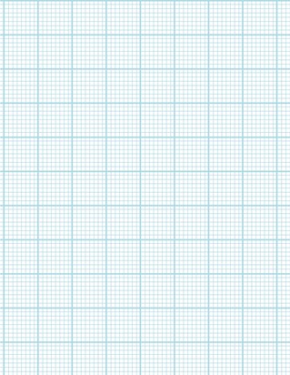 Graph Paper With Letter Page Size, Light Blue Line Color, Heavy Index Line, 8 Lines Per Inch