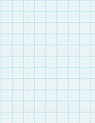 Graph Paper With Letter Page Size, Light Blue Line Color, Heavy Index Line, 9 Lines Per Inch