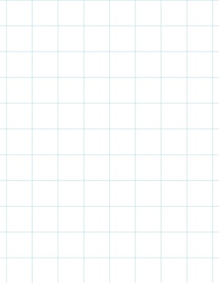Graph Paper With Letter Page Size, Light Blue Line Color, Line Every Inch