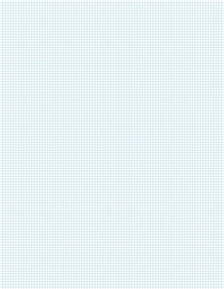 Graph Paper With Letter Page Size, Light Blue Line Color, 10 Lines Per Inch