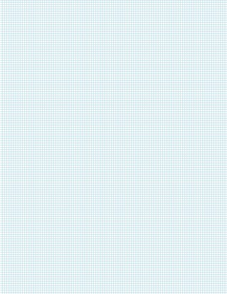 Graph Paper With Letter Page Size, Light Blue Line Color, 12 Lines Per Inch