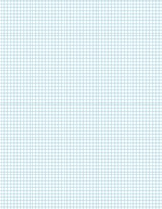 Graph Paper With Letter Page Size, Light Blue Line Color, 13 Lines Per Inch