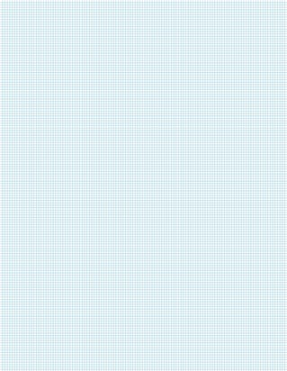 Graph Paper With Letter Page Size, Light Blue Line Color, 14 Lines Per Inch