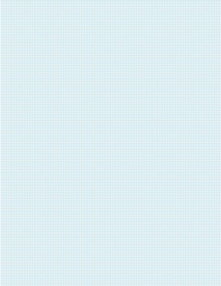 Graph Paper With Letter Page Size, Light Blue Line Color, 16 Lines Per Inch
