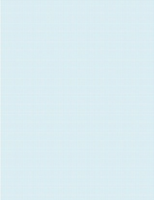 Graph Paper With Letter Page Size, Light Blue Line Color, 17 Lines Per Inch