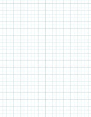 Graph Paper With Letter Page Size, Light Blue Line Color, 3 Lines Per Inch