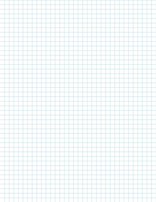 Graph Paper With Letter Page Size, Light Blue Line Color, 4 Lines Per Inch