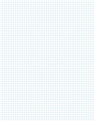 Graph Paper With Letter Page Size, Light Blue Line Color, 5 Lines Per Inch