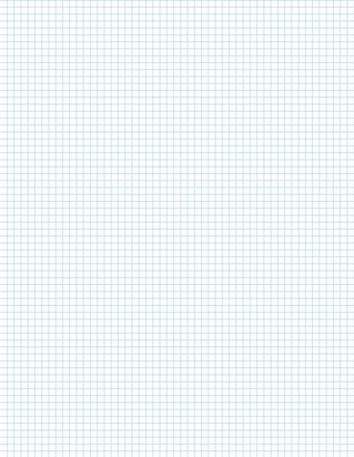 Graph Paper With Letter Page Size, Light Blue Line Color, 6 Lines Per Inch