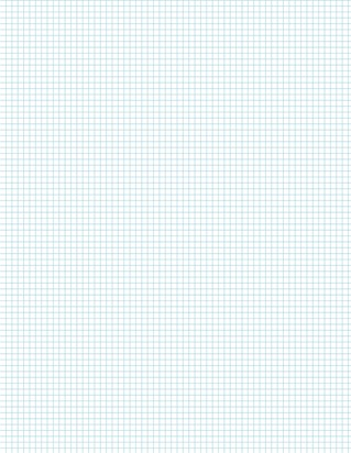 Graph Paper With Letter Page Size, Light Blue Line Color, 7 Lines Per Inch