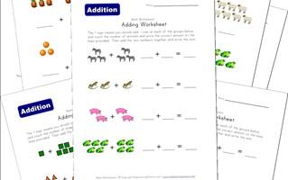 addition worksheets all kids network - Printable Work Sheets For Kids