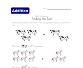 find the sum worksheet animals