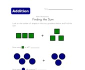 find the sum worksheet shapes