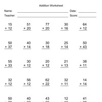 Up to 4 Digits No Regrouping Addition Worksheets