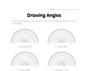 Drawing Angles Worksheet 1