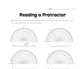 Reading a Protractor Worksheet 1