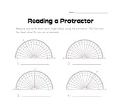 Reading a Protractor Worksheet 2