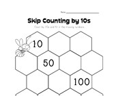 skip counting by tens worksheet