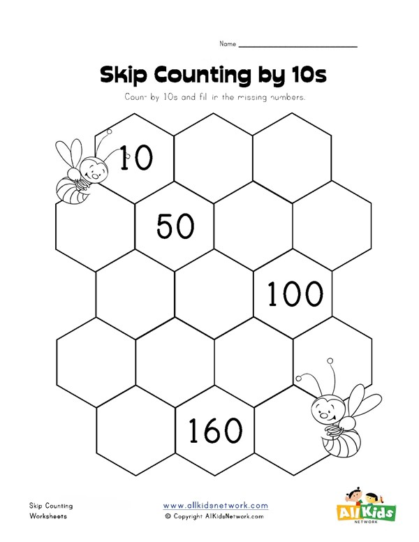 Skip Counting By Tens Worksheet All Kids Network