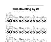 skip counting by twos worksheet