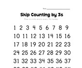 skip counting by threes worksheet