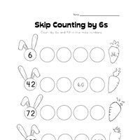 skip counting by sixes worksheet