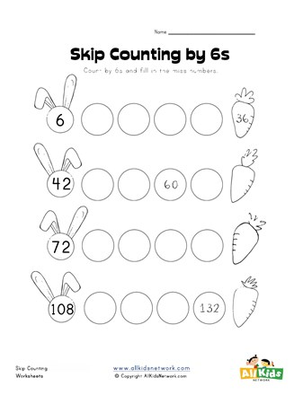 Skip Counting by Si Worksheet   All Kids Network on color by worksheets, counting by patterns, counting money worksheets, counting by numbers, skip counting worksheets, counting by rows,