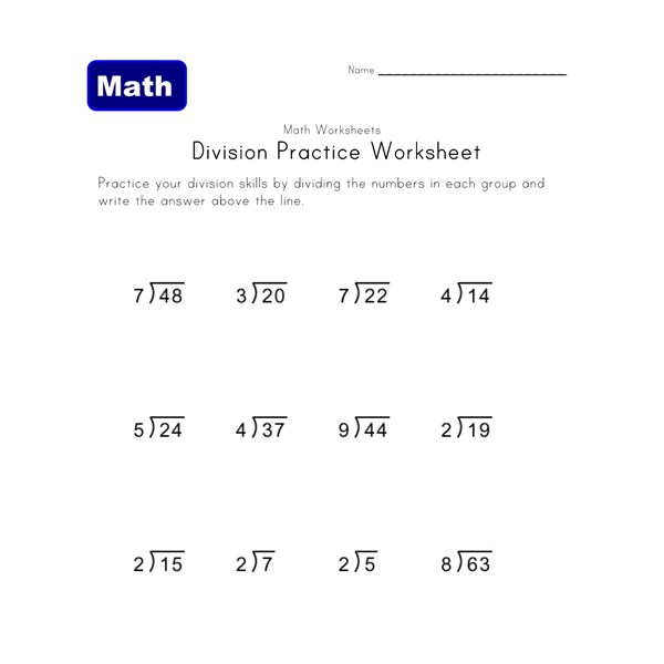 Worksheets Division With Remainders Worksheets simple division worksheets with remainders all kids network